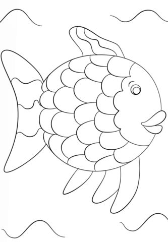 Regenbogenfisch Fisch vorlage Regenbogenfisch