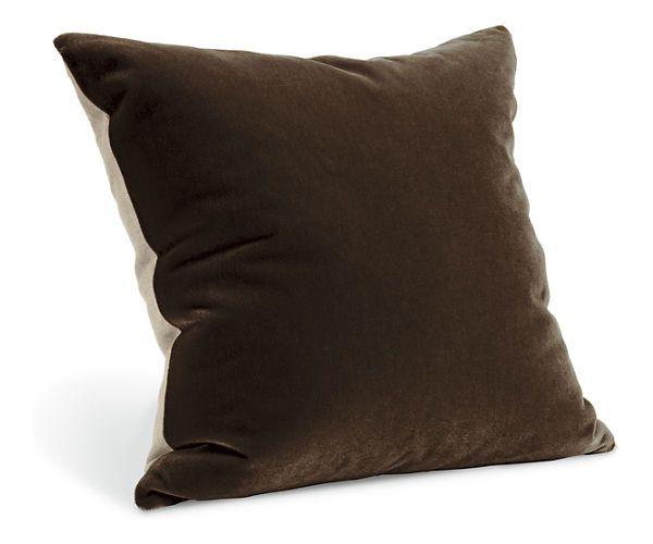 Room & Board - Mohair Euro Sham  Foxhound Pillow