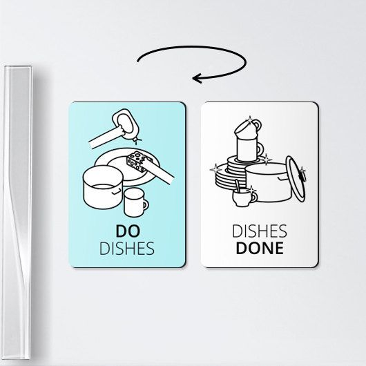 Chore magnets - Do dishes - chore board magnet, magnets, chore magnet, notice magnets, to do board, relationship gifts
