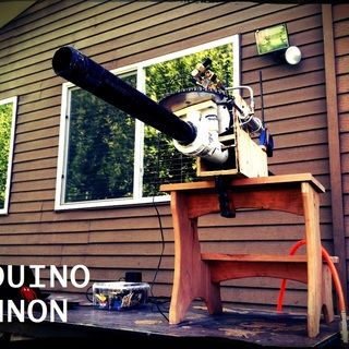 Arduino Web-Enabled Cannon