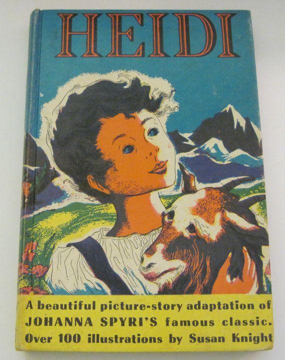 Heidi 1952 Winston Pixie Books Johanna Spyri by BirdhouseBooks