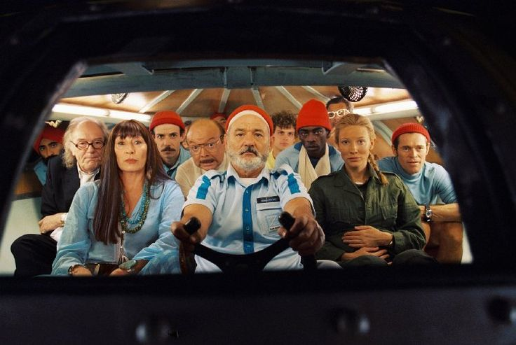 Bill Murray, Willem Dafoe, Cate Blanchett, Bud Cort, Anjelica Huston, Noah Taylor, and Seu Jorge in The Life Aquatic with Steve Zissou (2004)