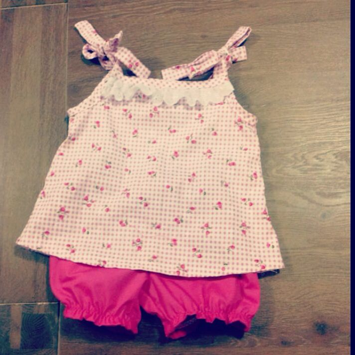 Gorgeous cherry top with matching bloomers made by Zaylie_Co