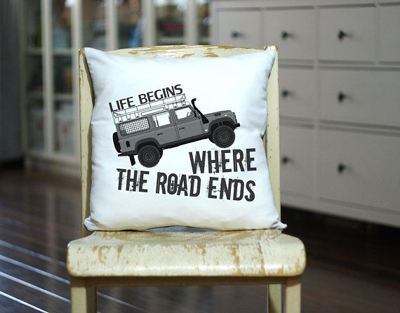 Offroad Gift Pillow - Land Rover Pillow - Custom Made Throw Pillow - Personalized Offroad - Gift for Him - Camp Pillow