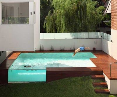 Above Ground Pool Plus Patio designed by Andres Remy Architects