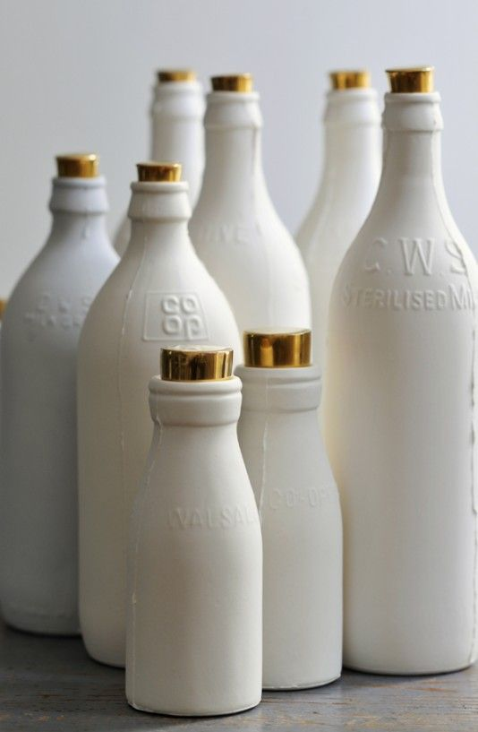 Goldtop Porcelain Milk Bottle by Shan Annabelle Valla
