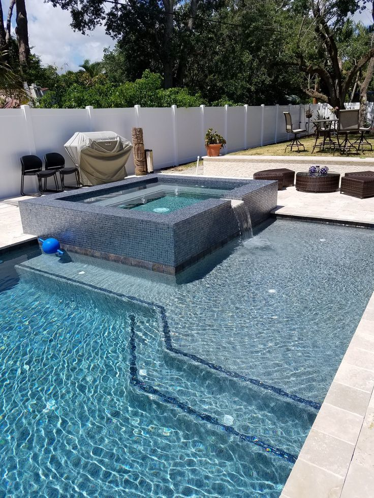 27 best small inground pool ideas in 2019 small inground for Pool design with sun shelf