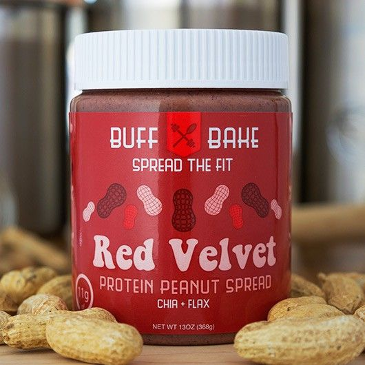 Red Velvet Peanut Butter From Muscle Food - Say hello to the protein packed, all natural, 100% clean, gluten free and simply mouth-watering Red Velvet Peanut Butter!!