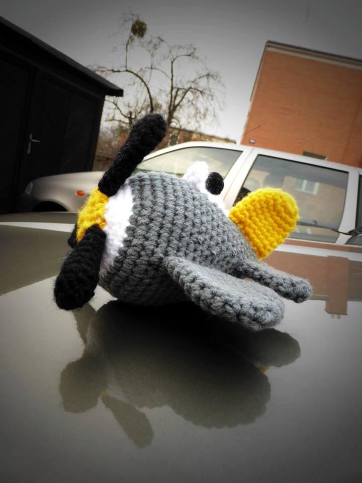 Maličké háčkované letadélko... / Small crochet aircraft