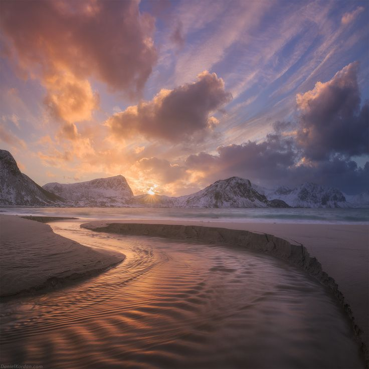 "Haukland bend - The beginning of our photo workshop together with Erez Marom was amazing. We started from Haukland beach. This shot is from yesterday evening, we got this explosion of color in the skies. At this time of the year sun is just rolling over horizon allowing to shoot from 10 to 14 o'clock like you have constant sunrise. You are welcome to join <a href=""http://danielkordan.com/workshops"">my Lofoten photography workshops</a>!"