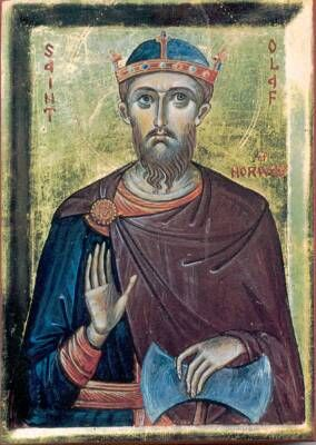 July 29 Olaf, King of Norway, martyr, died 1030  Considered the patron saint of Norway, Olaf went from a life of piracy to becoming Christian and declaring himself king of Norway. He revised the laws and tried to administer them fairly. Driven from Norway in a rebellion, he was killed in battle trying to regain his kingdom..