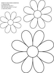 daisy applique