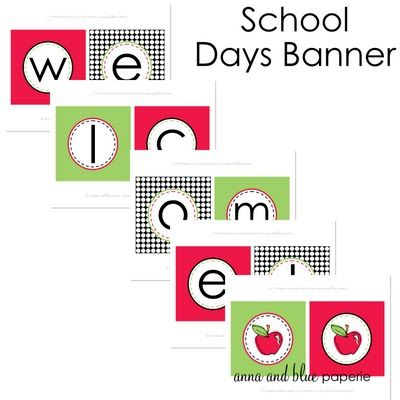 {Free Printable} School Days Printable Banner