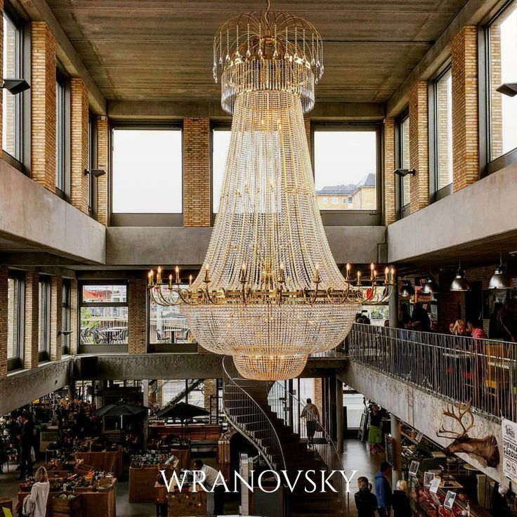 Another beautiful photo of our chandelier in Kville Saluhall in Göteborg taken by @andreabrandovic