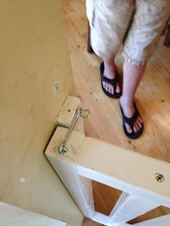 Weekend project #2 revealed: DIY wooden baby gate -
