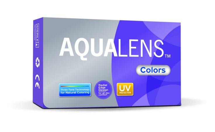 AQUALENS COLORS 1pack - 11.00€ - Έγχρωμοι μαλακοί φακοί μηνιαίας αντικατάστασης. Με περίγραμμα και λεπτά άκρα για εξαιρετική άνεση όλη την ημέρα.  Εύκολος και οικονομικός τρόπος για μια αλλαγή στο χρώμα των ματιών, ακολουθόντας πάντα τους κανόνες υγειινής και τις οδηγίες χρήσης που του έχει δώσει ο εφαρμοστής του. Τρία χρώματα σε ένα, με αποτέλεσμα η απόδοση του χρώματος να είναι πολύ φυσική σε συνδιασμό με το χρώμα των ματιών του. UV προστασία για πρόσθετη ασφάλεια.