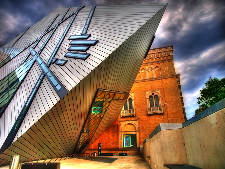 Old meets new; culture meets nature.  Royal Ontario Museum