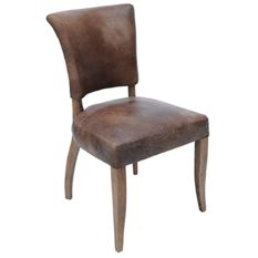 HALO Mimi Leather Dining Chair (Brown)