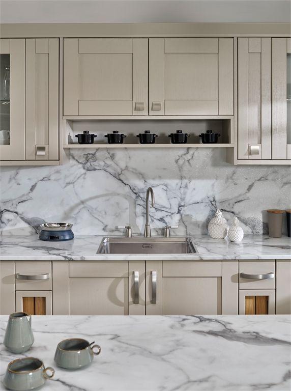 Calacatta Marble Kitchen Worktops Bushboard Kitchen