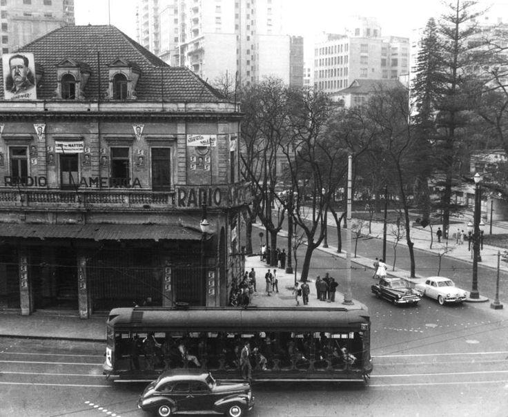 Antônio Aguillar/Estadão - Avenida São Luiz erua da Consolação em foto de 1954