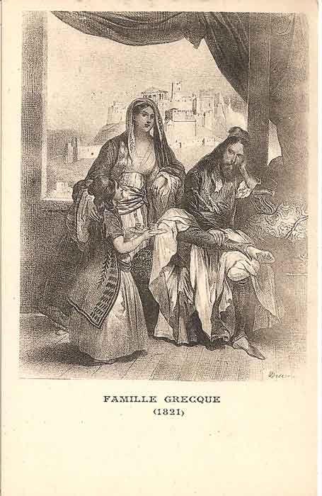 Ελληνική οικογένεια, 1821