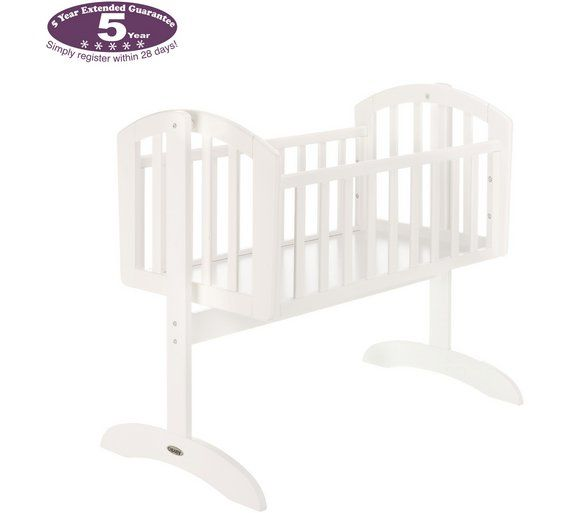 Buy Obaby Sophie Swinging Crib and Mattress - White at Argos.co.uk, visit Argos.co.uk to shop online for Cots, cribs and cot beds, Sleep, Baby and nursery