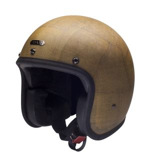 HEDON Hedonist Frknstn with ECE matte-sand with black leather interior & leather trim - buy HEDON Hedonist at 24Helmets!