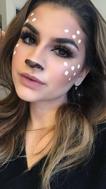 Deer makeup by @emma_kapotes_beauty #reindeer #santacon #deer #deermakeup #christmas