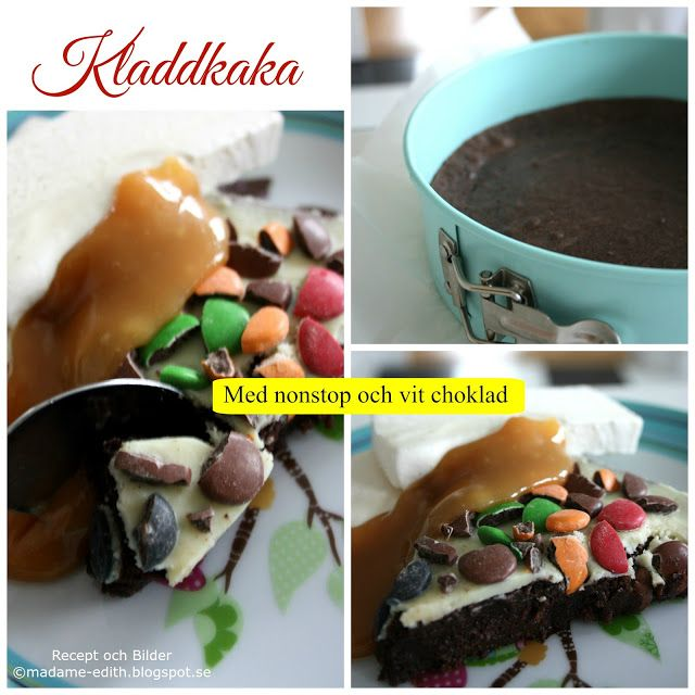 Madame Edith - Recept: Kladdkaka med nonstop och vit choklad