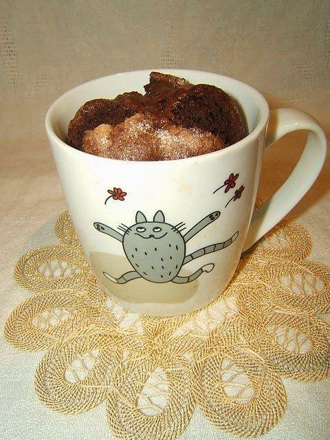 Paradiso dei Dolci Vegan: Torta vegan in tazza mug cake al cioccolato senza microonde