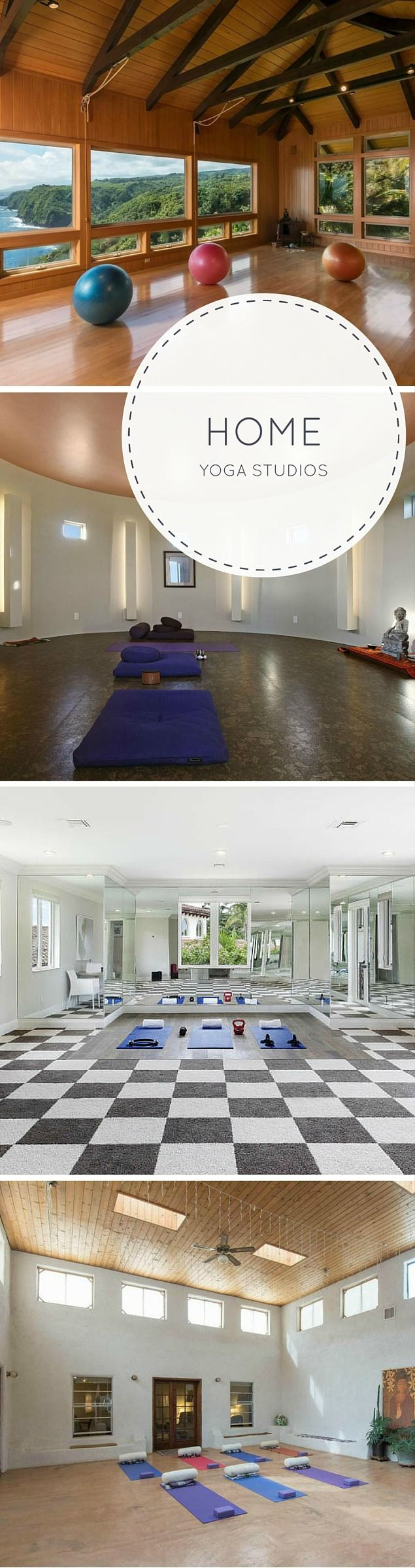 See 6 amazing, peaceful at-home yoga studios that could inspire anyone to get started on their first downward dog. Find your zen in these rooms dedicated to the ancient art of yoga.