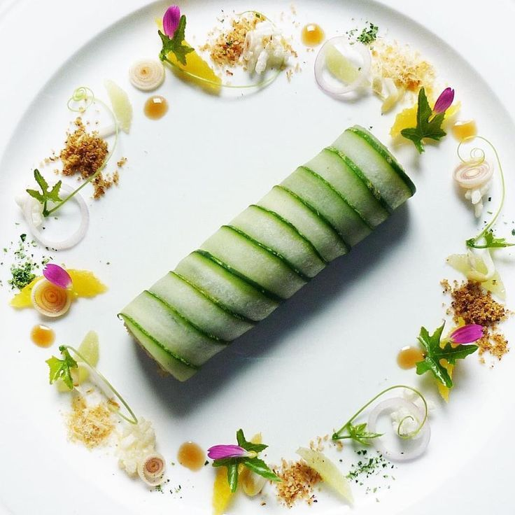 - Rice salad wrapped with Cucumber-