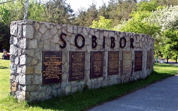 a memorial at the site of a Nazi concentration camp in Sobibor, Poland.jpg