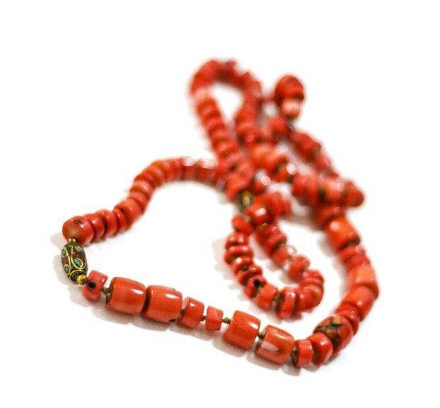 Coral, Afghan Beads