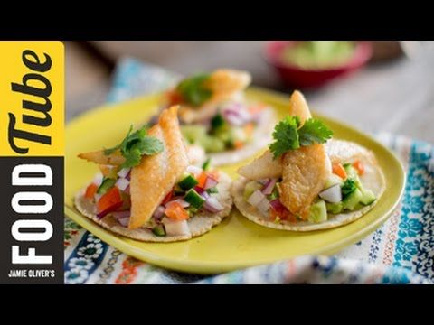 "Fish Tacos Recipe to Die For Video. Learn how to make this super simple dish and impress your friends.  This one ""ROCKS"""