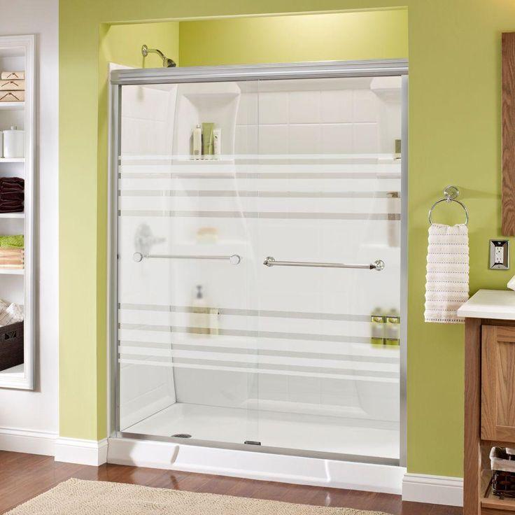 Delta Mandara 59-3/8 in. x 70 in. Semi-Frameless Sliding Shower Door in