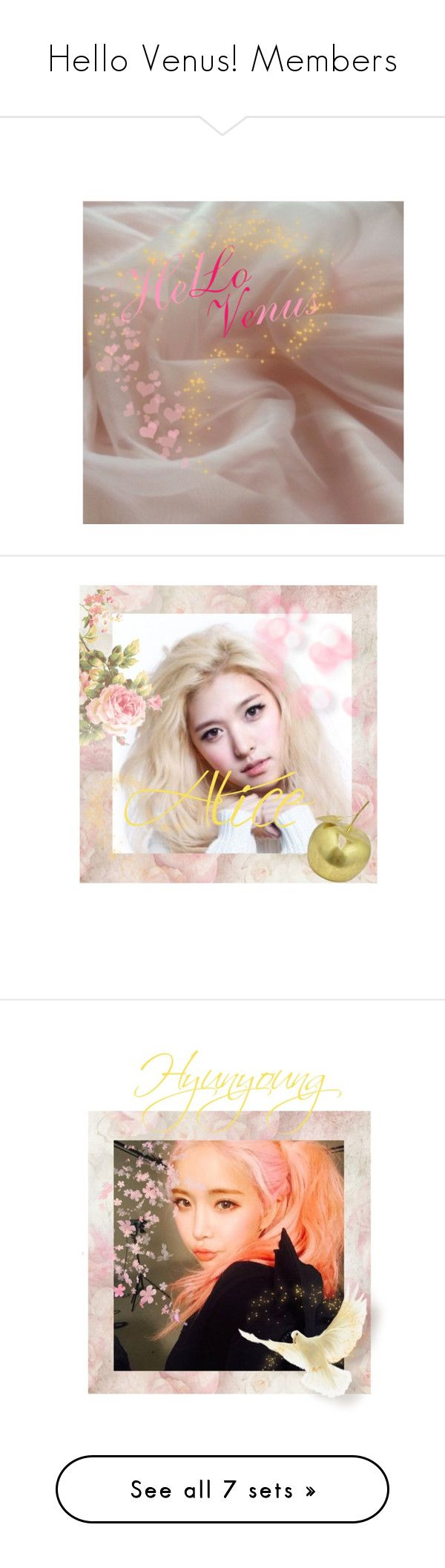 """""""Hello Venus! Members"""" by kpopgroups101 ❤ liked on Polyvore featuring art, Pixie and Zara Taylor"""