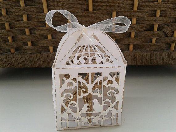 Birdcage scatole Bomboniere, Sweet Party scatole Bomboniere, nautica bomboniera bomboniera stella marina di oro