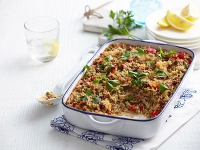 Oven-Baked Mince and Cheese Risotto recipe