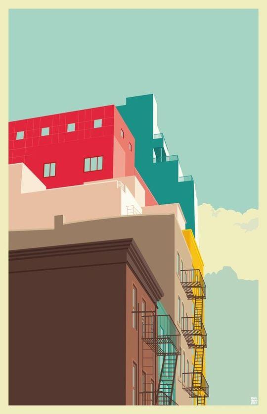 Lower East Side New York City #1 by Remko Gap Heemskerk