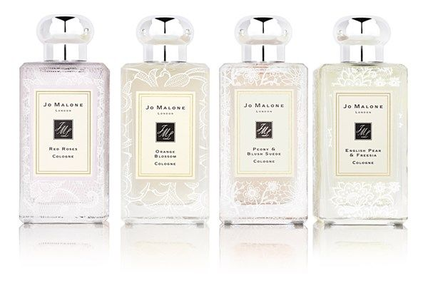 Jo Malone Bridal Lace Bottle Collection. Click on the image to see the rest of our 'The most thoughtful unusual wedding gifts' gallery
