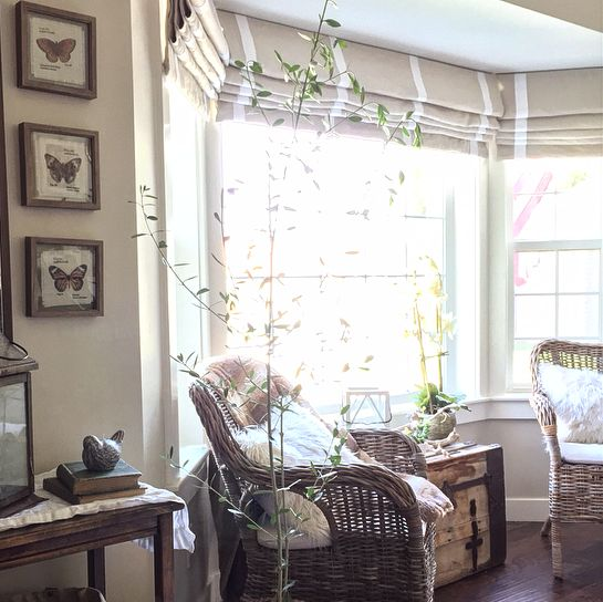 Knock-off Pottery Barn Cordless Roman Shade _ very detailed instructions to make yourself