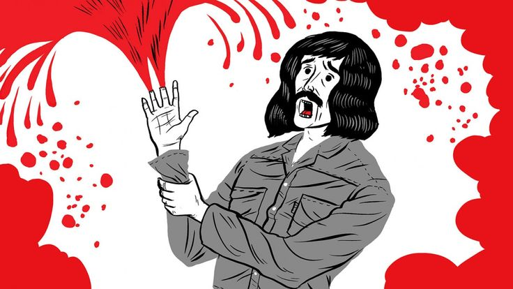 Geschichte von Black-Sabbath-Gitarrist Toni Iommi, die der britische #Illustrator Paul Blow für einen kurzen #Animationsfilm umsetzte.
