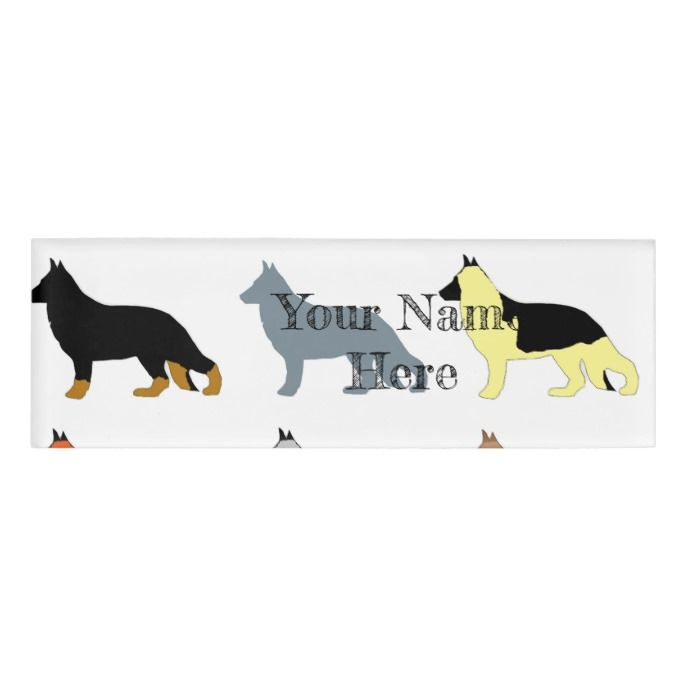 German Shepherd All Colors Silos Name Tag Zazzle Com Name Tags