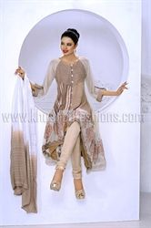 Picture of  Beige Churidar and Kameez