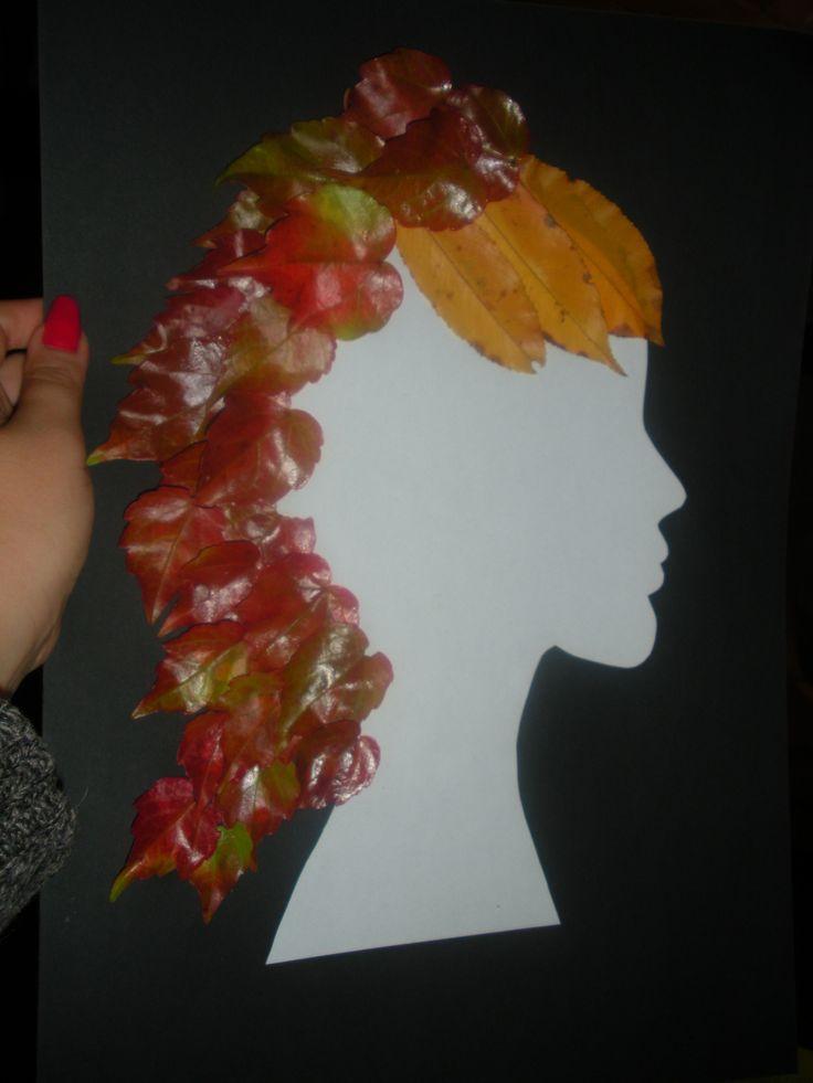 Włosy z liści