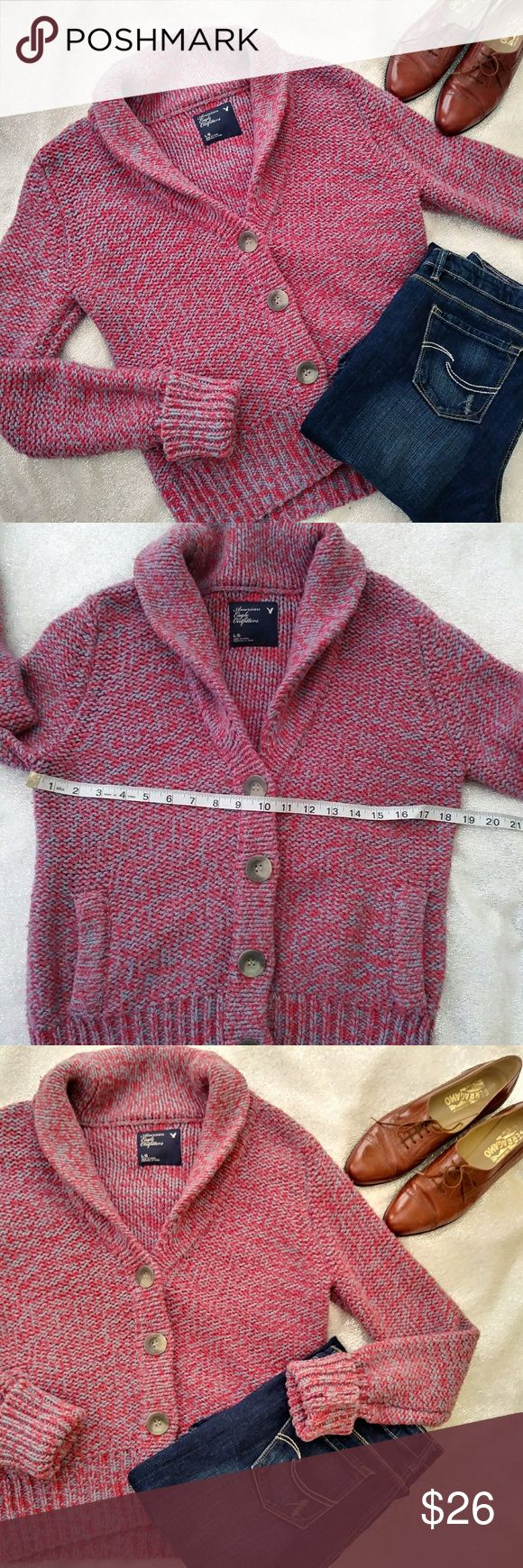 Chunky Comy Grandpa Sweater Chunky Comy Grandpa Sweater Pink and Lavender 4 Over Sized Buttons 2 Front Pockets See Pics for Measurements American Eagle Outfitters Sweaters Sign up with code TAINAGEEK to get $5 off your first order.