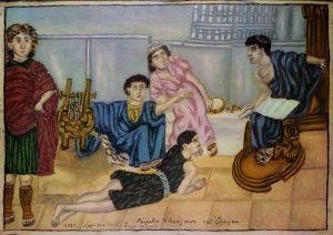 Ραψωδος ανάγνωση Ομηρου, Θεόφιλος Κεφαλάς - Χατζημιχαήλ | Καμβάς, αφίσα, κορνίζα, λαδοτυπία, πίνακες ζωγραφικής | Artivity.gr