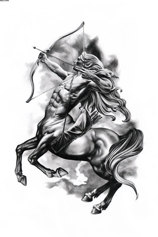 The Sagittarius Tattoo Design Negro Sagittarius Tattoo Designs