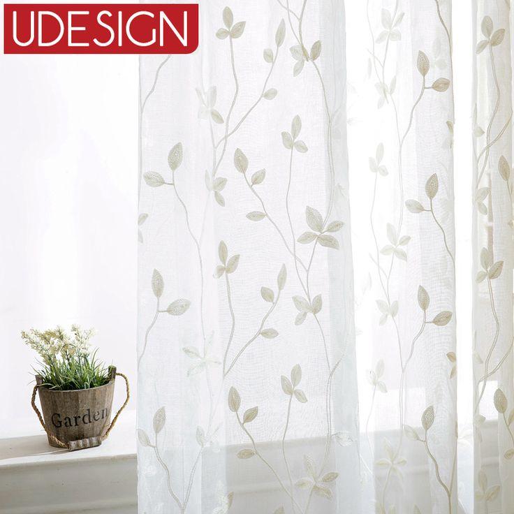 Корейский белый вышитые вуаль белья белые занавески для гостиной кухня спальня тюль гардины / панели